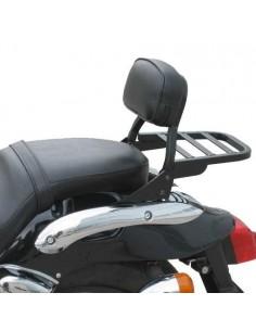 Respaldo bajo con portaequipajes negro para moto Kymco Zing II 125 Darkside