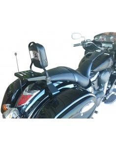 Respaldo con portaequipajes negro para moto Kawasaki Vulcan Vn1700 Voyager Y Vaquero