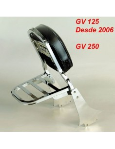 Respaldo con portaequipajes para moto Hyosung Aquila Gv250 - Gv125 (Desde 2006)