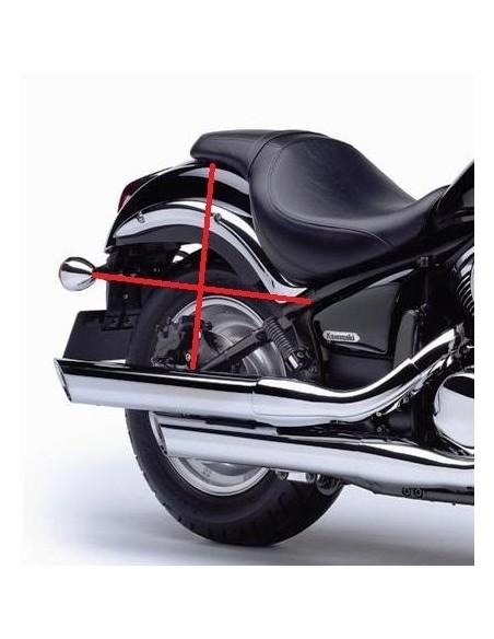 Alforjas moto custom de cuero