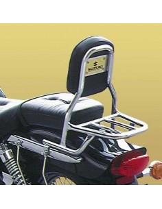 Respaldo con portaequipajes para moto Suzuki Marauder 125 - 250 (Tubo redondo)