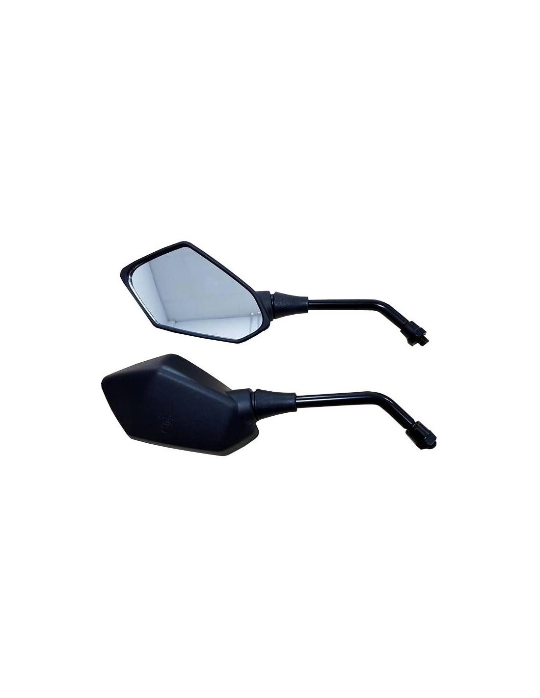 Espejos retrovisores universales hexagonales color negro 81-K058-01-3